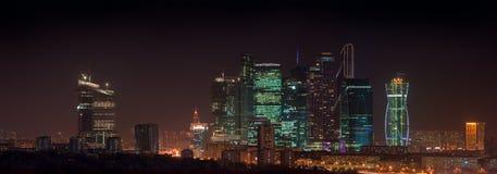 Город Москвы панорамы Стоковое Фото