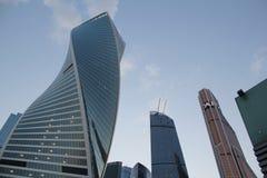 Город Москвы, центр крупного бизнеса в центре Москвы стоковое изображение rf