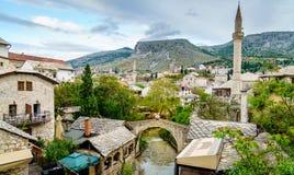 Город Мостара в Боснии Стоковые Изображения