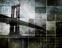 город моста искусства воодушевил самомоднейшее New York иллюстрация вектора