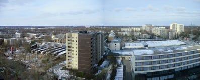 город над панорамным взглядом стоковое фото