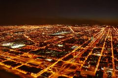 Город на ноче стоковое фото rf