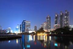 Город на twilight хорошем взгляде Стоковое Изображение