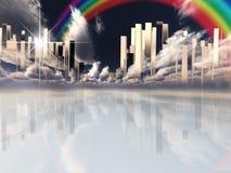 город небесный иллюстрация штока
