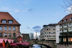 Город Нюрнберга рождественской ярмарки стоковое изображение