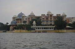 Город озер Udaipur Для озер, здания наследия, дворцы, гостиницы, свадьба назначения, назначение медового месяца стоковые фото
