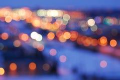 город освещает улицу Стоковое Изображение RF