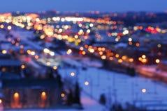 город освещает улицу Стоковые Изображения RF