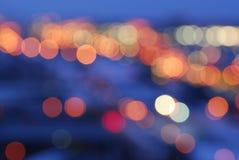 город освещает улицу Стоковое Изображение