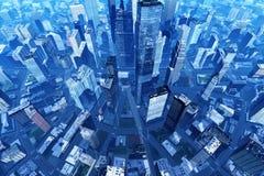 Город от воздуха стоковые фотографии rf