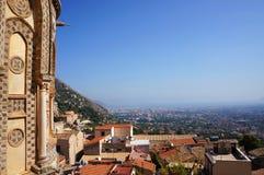 Город Палермо увиденный от Monreale Стоковые Фото