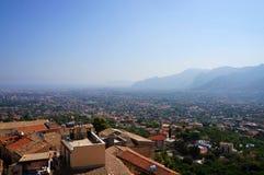 Город Палермо увиденный от Monreale Стоковое Изображение RF