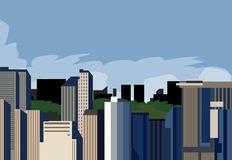 город панорамный бесплатная иллюстрация