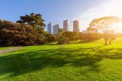 Город, парк и CBD Сиднея стоковое фото rf