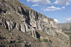 Город пещеры Vardzia в Georgia стоковая фотография