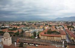 Город Пизы Панорама от башни Пизы Италия стоковые фотографии rf