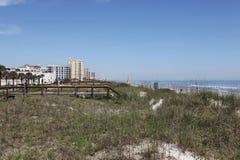 Город пляжа jacksonville в Флориде стоковая фотография rf
