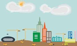 Город под иллюстрацией конструкции Стоковое Изображение