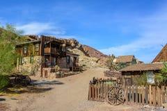Город-привидение ситца в Калифорнии, Мохаве Стоковое Фото