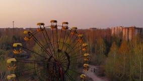 Город-привидение Pripyat около NPP Чернобыль, Украины акции видеоматериалы