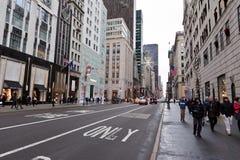 город пятое New York бульвара Стоковые Фотографии RF