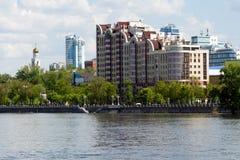 Город самары с Рекой Волга Стоковая Фотография RF