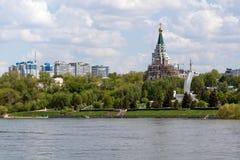 Город самары с Рекой Волга Стоковая Фотография