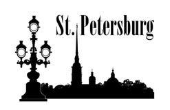 Город Санкт-Петербурга, Россия Предпосылка перемещения собора St Peter & Пола русская бесплатная иллюстрация