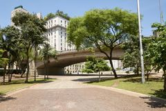 Город Сан-Паулу в Бразилии Стоковая Фотография RF