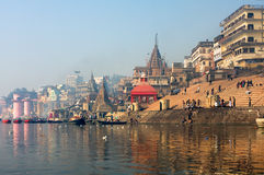город святейший индийский varanasi Стоковые Фотографии RF