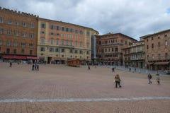 Город Сиены, Италия стоковое изображение rf