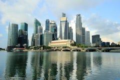 Город Сингапур Стоковое Изображение