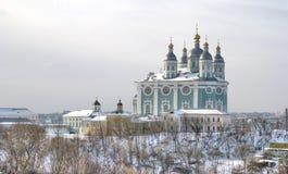 Город Смоленска Собор предположения благословленное Стоковое Изображение
