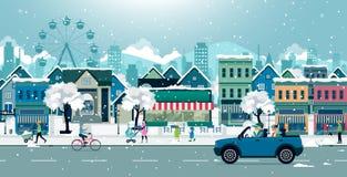 Город снега иллюстрация штока