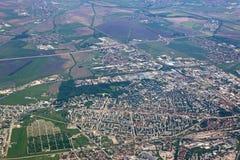 Город Софии, Болгария от воздуха стоковое изображение rf