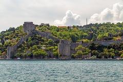 Город Стамбула Крепость Rumeli ориентир ориентира Турции в Bosphorus Stra Стоковая Фотография RF