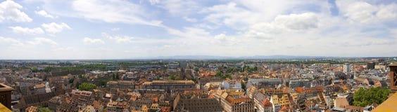 Город страсбурга - панорамный вид стоковое фото