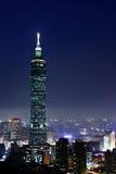 Город Тайбэй на ноче стоковое изображение rf