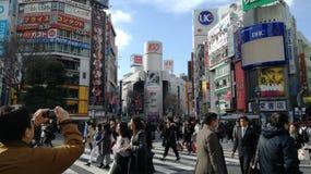 Город токио занятый стоковая фотография