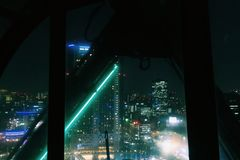 Город Токио от колеса ferris стоковое фото rf