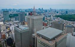 Город токио - широкоформатного вида с воздуха - ТОКИО, ЯПОНИЯ - 17-ое июня 2018 стоковые фотографии rf