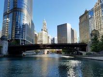 Город Чикаго и Рекы Чикаго стоковые фото