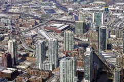 Город Чикаго от воздушной точки зрения стоковая фотография rf