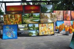 Город Шри-Ланка Коломбо продавца картины улицы стоковое изображение