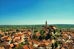 Город, южная Моравия, чехия, Mikulov стоковая фотография rf