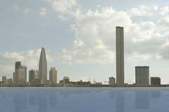город 102 мнимый Стоковое фото RF