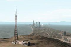 город 118 мнимый Стоковая Фотография RF