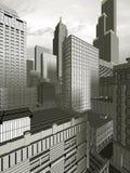 город 3d иллюстрация вектора