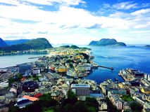 Город Aalesund стоковая фотография