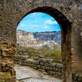 Город Antin итальянский Дом высекаенный в утес стоковое фото